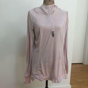 Lululemon light pink SPF long sleeve workout top